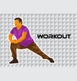 overweight man exercising tile vector image