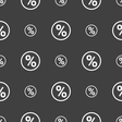 percentage discount icon sign Seamless pattern on vector image vector image