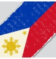 Philippines grunge flag vector image vector image