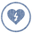 power love heart rounded fabric textured icon vector image vector image