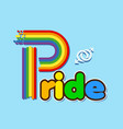 rainbow pride text male homosexuality symbol blue vector image vector image