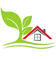 Real estate house with tree vector image vector image