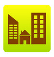 real estate sign brown icon at green vector image