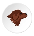 Retriever dog icon flat style vector image vector image