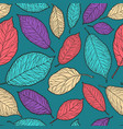 seamless abstract background decorative leaves vector image vector image
