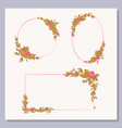 set of decorative frames with floral elements vector image vector image