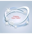 Snowflakes holiday frame vector image