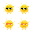 sun with sunglass vector image vector image