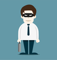 Thief in business man vector image