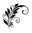 Vintage floral design element vector image vector image