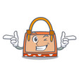 wink hand bag character cartoon vector image vector image