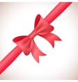 Big shiny red bow and ribbon on white background vector image