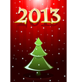 Card red new year vector image