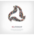 relationship people sign 3d vector image