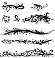Set of patterns horizontal vector image
