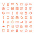 49 time icons vector image vector image