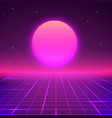 80s style background sci-fi or retro music poster vector image vector image