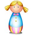 A colorful doll vector image vector image
