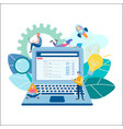 a team of office marketers are developing a new vector image vector image
