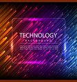 abstract technology digital hi tech hexagons vector image vector image