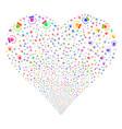 alarm fireworks heart vector image vector image