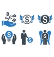 Angel Investor Flat Icons vector image vector image