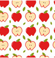 apple seamless pattern modern vector image vector image