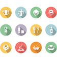 babys things icon set color with long shadow vector image vector image