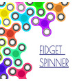 Banner with colorful fidget spinners spinner hand