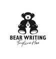 bear writer inspiration logo design vector image vector image