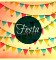 beautiful festa junina backgorund vector image