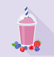 berries smoothie vector image vector image