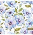 Blue flowers pattern vector image vector image