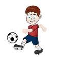boy football vector image
