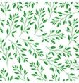branch with leafs pattern vector image vector image