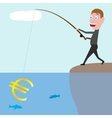 businessman catching euro vector image
