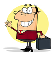 Businessman Waving A Greeting vector image