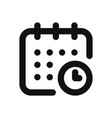 calendar and time icon vector image vector image