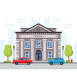 cartoon bank or government building with roman vector image vector image