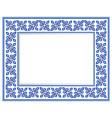 ceramic frame vector image vector image