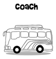 Coach bus of art vector image vector image