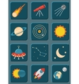 collection colorful flat astronomy and space vector image vector image