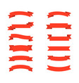 collection red ribbons banners icons for web vector image vector image