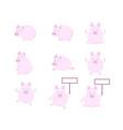 cute pig flat design vector image