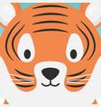 cute tiger head cartoon animal vector image