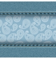 Denim and paisley vector image vector image
