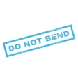 do not bend rubber stamp vector image vector image