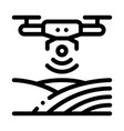 drone wi-fi signal icon outline vector image vector image