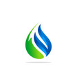 eco bio water drop logo vector image vector image