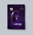 electro party invitation poster vector image vector image